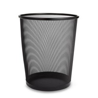 Metal Trash Can by Seville® in Black