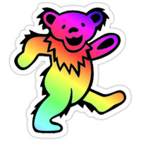 'Grateful Dead Dancing Bear Rainbow' Sticker by Jason Levin