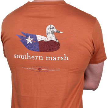 Authentic Texas Heritage Tee in Burnt Orange by Southern Marsh