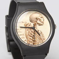 The Vintage Skull Watch with Black Band