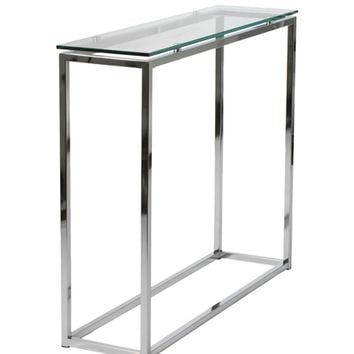 Gardner Console Table GLASS TOP/CHROME