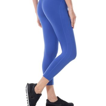 Women's Activewear Tight Fit Running Workout Sports Capri Leggings Pants