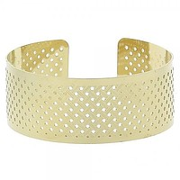 Gold Layered 5.232.008 Individual Bangle, Diamond Cutting Finish, Golden Tone (25 MM Thickness, One size fits all)