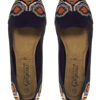 New Look Lexi Update Black Geo-Tribal Printed Shoes