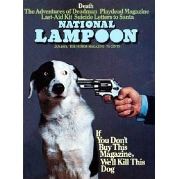Nation Lampoon Cover Buy This Magazine Or poster Metal Sign Wall Art 8in x 12in