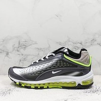 Nike Air Max Deluxe 99 Black Green Running Shoes - Best Deal Online