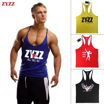 Tank Top Men ZYZZ Fitness Singlets Bodybuilding Stringer Golds Gyms Clothing Muscle Shirt Vest Sportwear Body Engineers