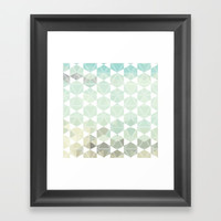 Geometric Sand & Sea Framed Art Print by All Is One