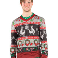 Christmas Frisky Deer Faux Sweater