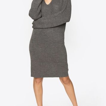 Suzette Charcoal Sweater Dress