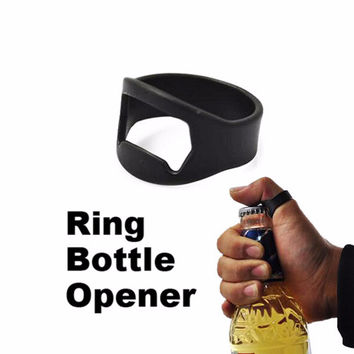 Stainless Steel Beer bottle opener Wine Finger Ring Men Multifunctional Ring Opener for Beer Bar Tool SM6