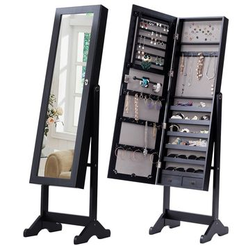 Mirrored Armoire Storage Organizer Jewelry Cabinet w/ Drawers This brand new jewelry cabinet contains the best secret a woman dreams of!