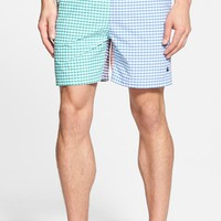 Men's Brooks Brothers Mixed Gingham Panel Swim Trunks,