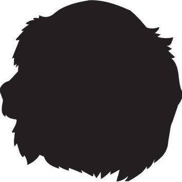 Saint-Usuge Spaniel Silhouette Dog Puppy Breed Long Die Cut Vinyl Transfer Decal Sticker