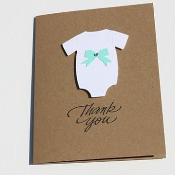 Bow Baby Shower Thank You Cards