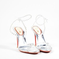 DCCK2 Silver and Clear Christian Louboutin Studded Icone a Clouse Sandals