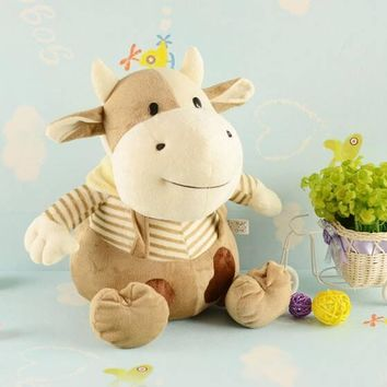 Plush Brown Cow- Choice of Size.