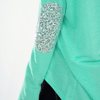 Make Me Sparkle Top: Mint | Hope's