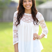 Lacey Loo Top - Ivory