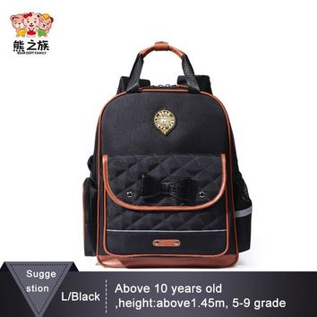 School Backpack BEAR DEPT FAMILY Brand Kids Backpack Primary School Bags Children Book Bags for Girls Cute Bowknot Kindergarten Backpacks AT_48_3