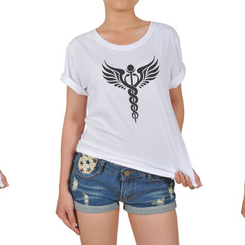 Women Religion Symbols Graphic Printed Cotton T-shirt  WTS_12