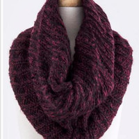 Two-Tone Wine Scarf