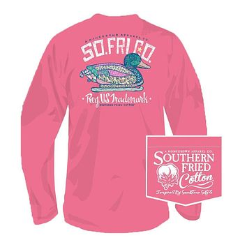 Darling Decoy Long Sleeve Tee in Pink Jam by Southern Fried Cotton