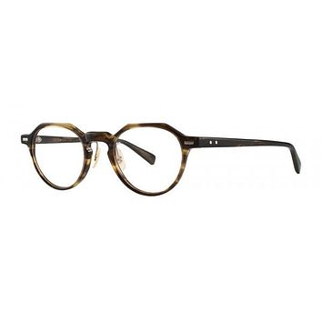 Seraphin - Penfield Brown Waves Eyeglasses / Demo Lenses