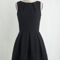 Mid-length Sleeveless Fit & Flare Luck Be a Lady Dress in Black and Red