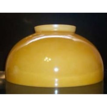 """63563 - Opal Dome Adapters Amber 14 Inch Glass Lamp Shade X 7"""" Height X 6"""" Top Opening"""