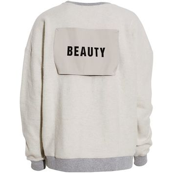MSGM - Super soft sweatshirt med Beauty lap - YouHeShe