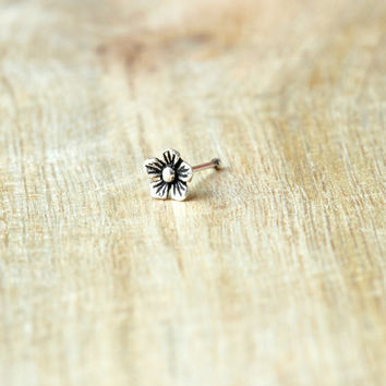 Jasmine Nose stud,  Sterling Silver flower Nose stud, Nose Bone, Flower nose stud, Cartilage Piercing Nose stud,Cartilage stud, Nose Jewelry