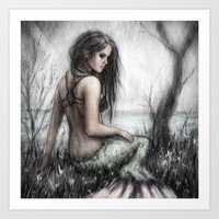 Mermaid's Rest Art Print by Justin Gedak
