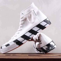 HCXX OFF White x Converse 2.0 Chuck Taylor All Star Shoelaces High Skate Shoes White Black