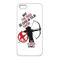 The Hunger Games Quote Katniss Bow & Arrow MAY THE ODDS BE EVER IN YOUR FAVOR Rubber Case Cover for Apple Iphone 5 Customed Design Fashiondiy