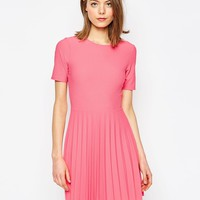 ASOS Textured Pleated Mini Dress