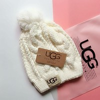 "Hot Sale ""UGG"" Winter Popular Women Men Knit Hat Warm Cap White"