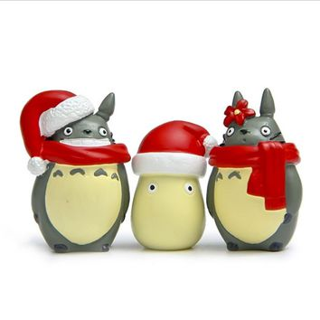 My Neighbor Totoro Christmas Hat Action Figure Kawaii