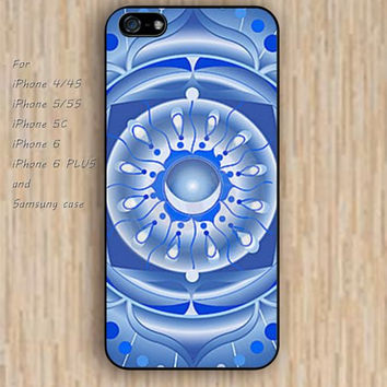 iPhone 5s 6 case colorful abstract blue pattern mandala phone case iphone case,ipod case,samsung galaxy case available plastic rubber case waterproof B306