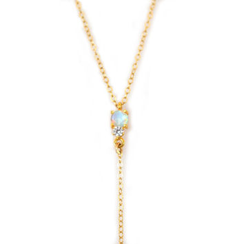 Opal and Diamond Double Dose Lariat