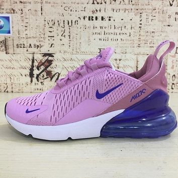 Nike Air Max 270 Women Light Pink Blue Sport Running Shoes - Best Online  Sale 3d54b1af8c