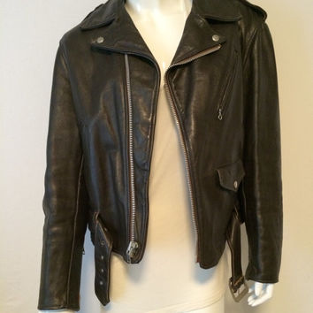Schott 618 Perfecto Vintage Steerhide Biker Motorcycle Jacket Bull Tag Like Those Worn by Marlon Brando Ramones Springsteen