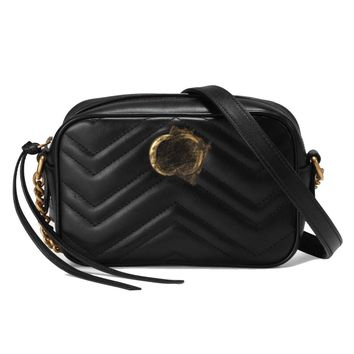 HPASS Classic Camera Bag Small Purse Shoulder Bag (Black18cm/24cm) for Ladies