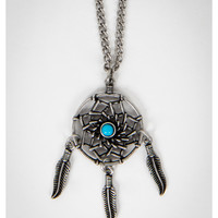 Silver & Turquoise Dream Catcher Necklace