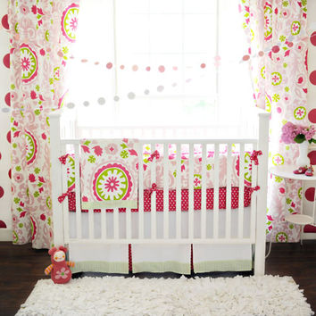 Pretty Pinwheels Baby Bedding