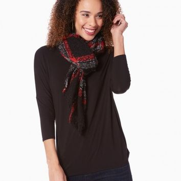 Bouclè Blanket Checkered Scarf | Charming Charlie
