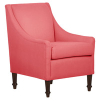 Holmes Swoop-Arm Chair, Coral, Accent & Occasional Chairs