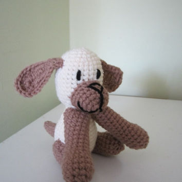 ON SALE - 10% OFF Crochet animal toy... puppy....stuffed soft litty baby dogy