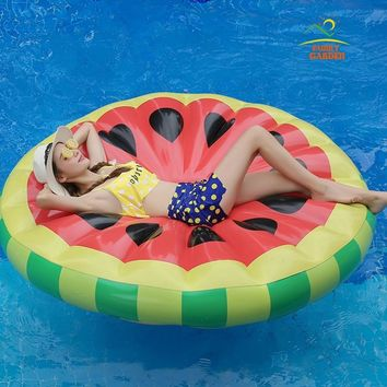 New Watermelon Orange Lemon Inflatable Raft Island Pool Float Floating Air Mattress
