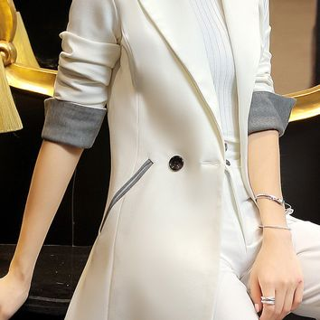 2017 Spring Autumn New Women'S Suit Blazer Fashion Suit Slim OL Office Blazer W603